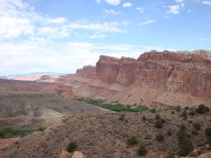 "Example of a ""monocline"" at Capitol Reef NP:  This is why I love Utah"