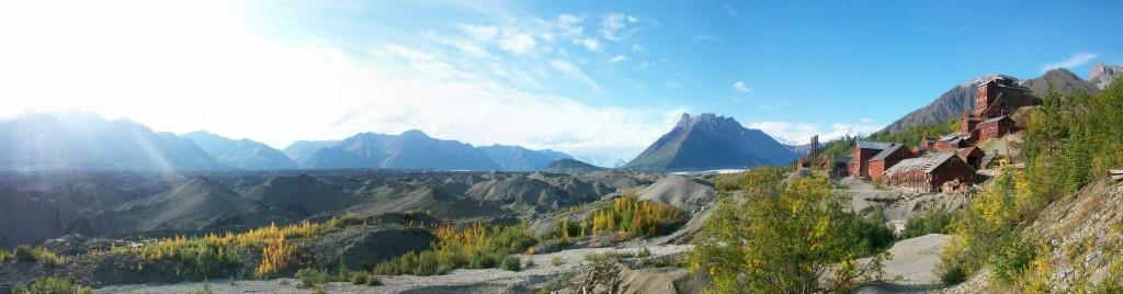 Overlooking the Root Glacier moraine
