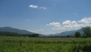 View from the middle of Cades Cove