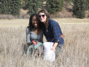 Aly and I collecting seeds at Pine Valley Ranch
