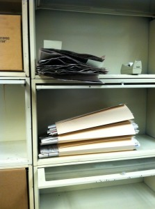 Completed folders containing years 2008 to 2012 duplicate herbarium vouchers.