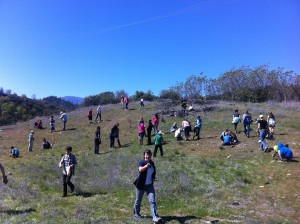 Charter school helping with a planting site
