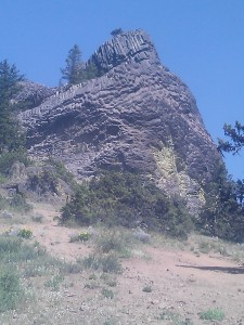 Pilot Rock, an awesome geologic feature of the Cascade Siskiyou National Monument