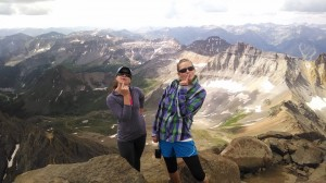 On top of Sneffels - 14,157 ft - with one of the coolest gal pals I know!