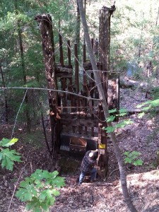 A pretty old stamp mill at a mine site