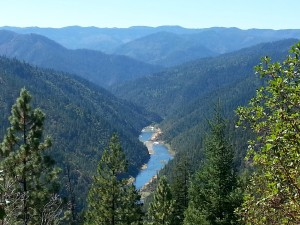 Whisky Creek overlook above the Wild and Scenic Rogue River