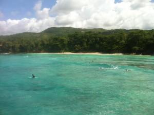 Beach in Boston Bay, Jamaica.