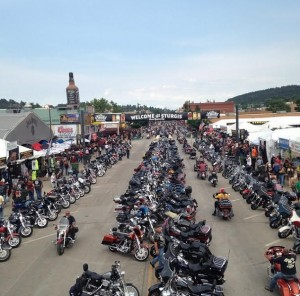 Just a few of the bikes at Sturgis!