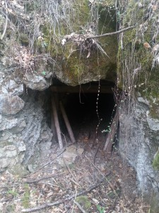 A portal to an old limestone mine. No bats in this one though.