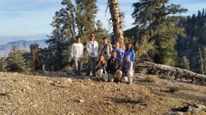 The team and I at the Ancient Bristle Cone Pine Forest
