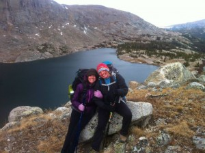 A photo of the two of us over one of the Lost twin lakes!