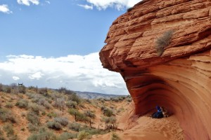 Hannah, Sunny and I enjoying the sights in Coyote Buttes, Arizona