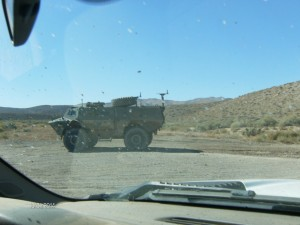 Just another vehicle on the road... an armored vehicle.