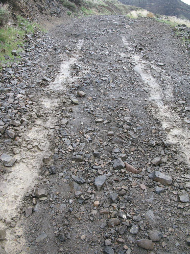 The slippery mountain roads we had to deal with on our first day.