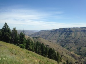 Looking down at Joseph Canyon