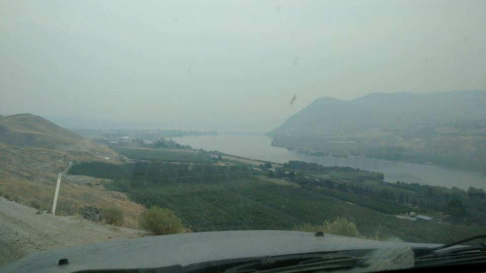 The Columbia River Basin was filled with smoke. It looked like it was 6:00pm all day!