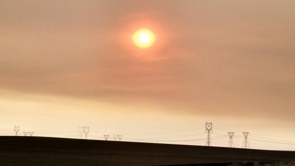 Smoke near Wenatchee, WA!!