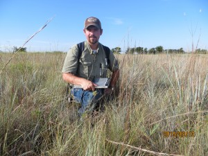 Gathering Asclepias species occurrences on Unit 49 at the LBJ National Grasslands.