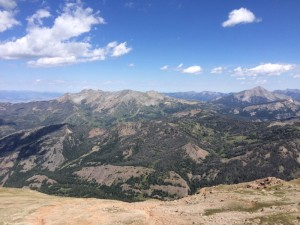 View of the Madison range from the top of the Sphinx