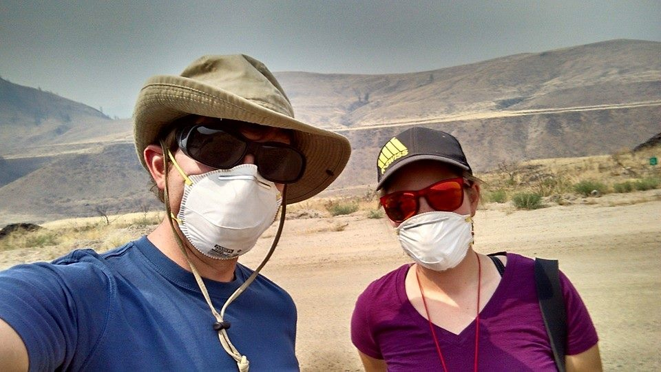 Jenny and I were prepared for any extreme field conditions, especially areas that had thick smoke.