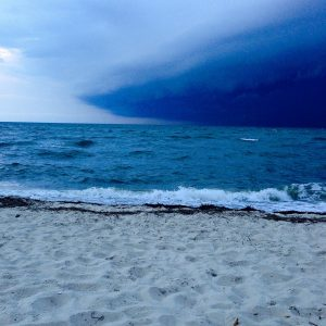 An advancing storm over Chesapeake Bay as seen  from Eastern Shore National Wildlife Refuge.  Luckily, we were done with work for the day!