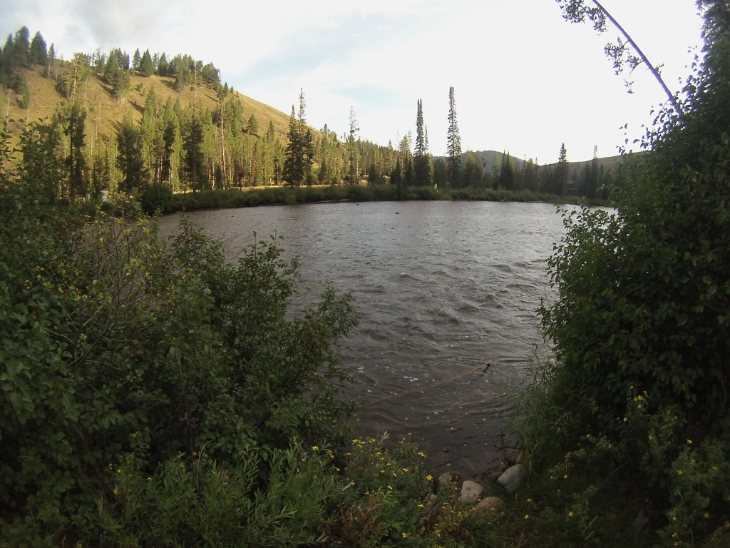 Campsite along the Salmon River near Stanley, ID