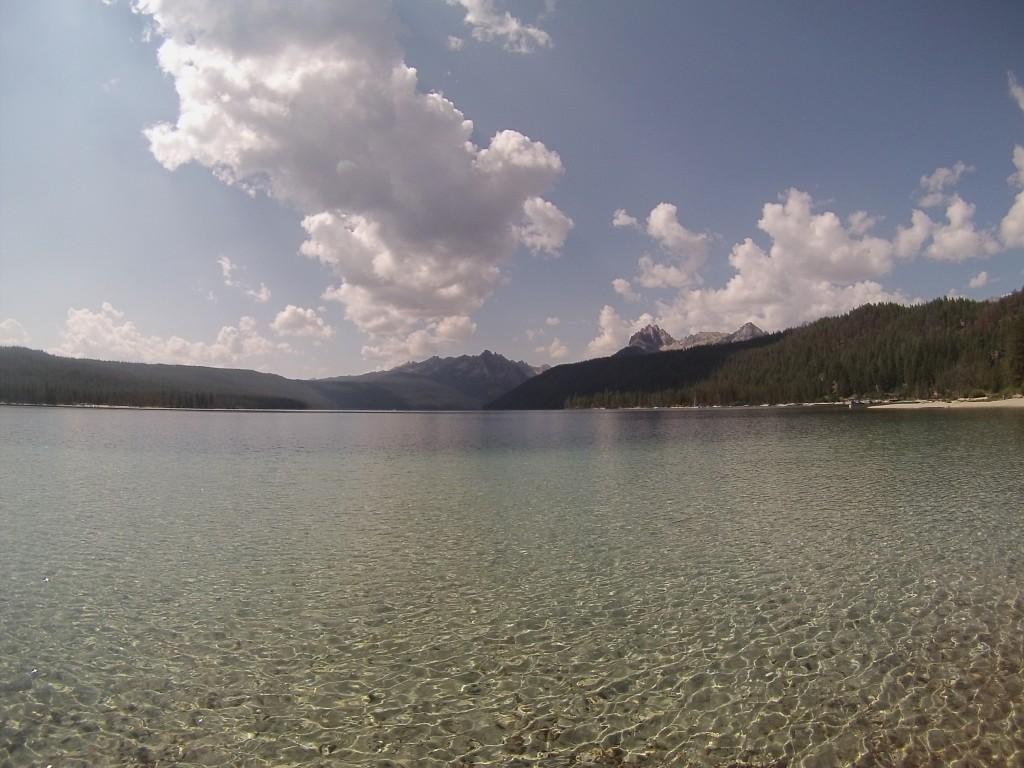 crystal clear water at Redfish Lake