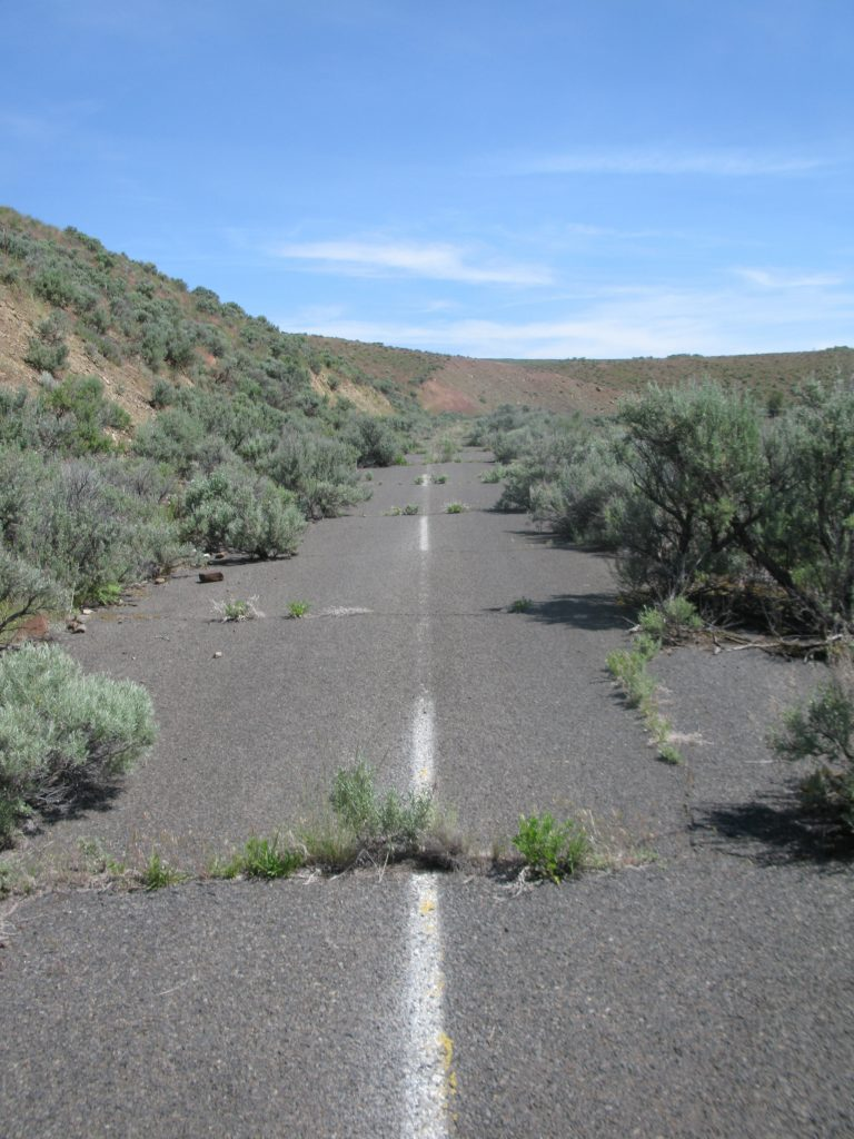 I would travel on this abandoned road to enter many of the Sulfur Canyon Allotments.