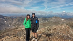 My brother and I at the top of Mt. Quandry