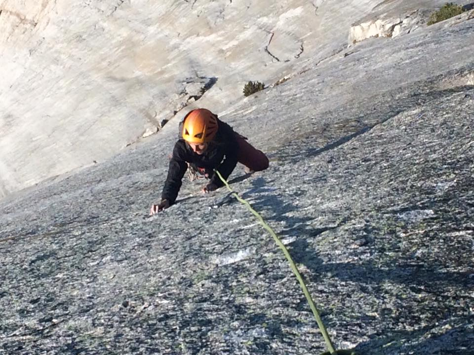 Edging and smearing on the Burning Arches pitches of 'The Arsonist' on Fairview Dome -Tuolumne Meadows