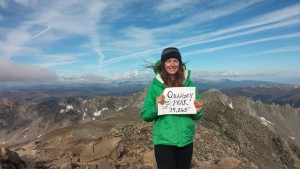 Top of Mt. Quandry. Hiking '14ers' is very popular in CO, thus I had to do at least one.