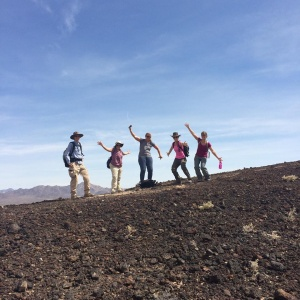 The best crew there ever was atop a volcano