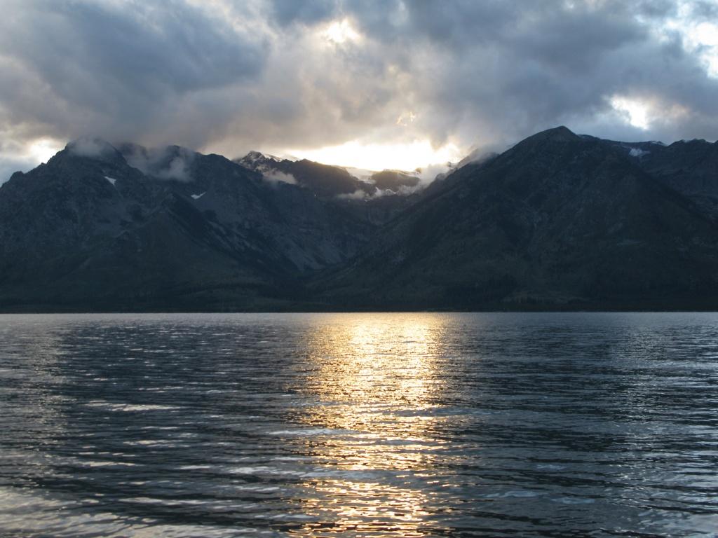 Sunset at the Grand Tetons!