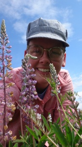 Myself with Kincaid's lupine (Lupinus oreganus)