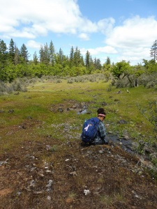 This is me recording data into my GPS after an empty site. Can you see the dejected hunch in the slope of my shoulders?