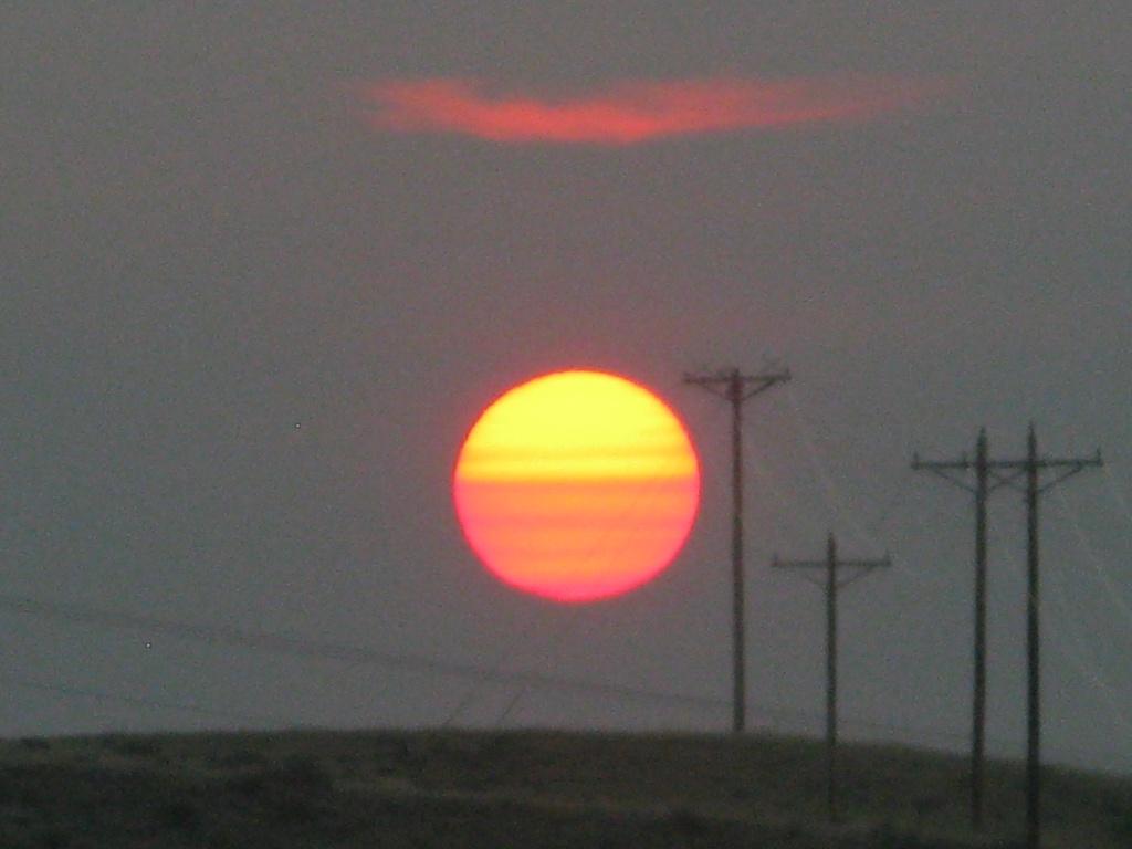Sunrise over Vanhouten Draw.