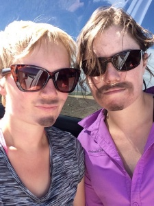 We went to take post-fire monitoring points at the Range 12 fire, so naturally these ash mustaches happened