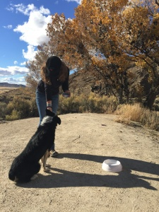 Annika + dog