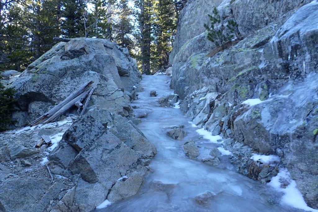 Treacherous trail in the Wind River range